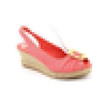 2015 Späteste Entwurfsart und weise reizvolle Mädchen-hohe Absätze Frauen-Süßigkeitschuhkeil-rosafarbene Sandelholzschuhe
