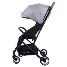 Carrinho de bebê dobrável para crianças carrinho de bebê recém-nascido carrinho de passeio infantil cinza