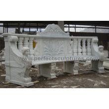 Chaise antique en marbre en pierre pour meubles extérieurs jardin (QTC072)