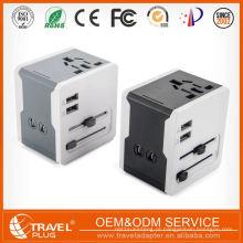 Logotipo elegante de impressão personalizado 4 Carregador de viagem Port USB