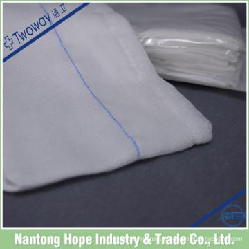 esponja de gaze detectável cirúrgica estéril 100% algodão absorvente médica de raio-x