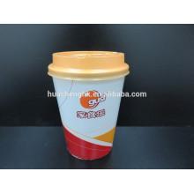 Taza de papel disponible modificada para requisitos particulares estándar de la pared doble 400ml de las gachas de avena del FDA