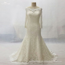 LZ161Dress Langarm Champagner Spitze Kleid Plus Größe Vestido De Noiva