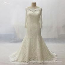 LZ161Dress С Длинным Рукавом Шампанское Кружева Платье Плюс Размер Vestido Де Нойва