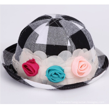 Infant Check Printed Fashion Sun Hat