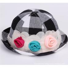 Infant Check Printed Fashion Sun Hat