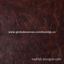 Semi PU Embossed Leather, Nice Skin, Soft, Breathable, for Furniture, Sofa and Chair
