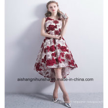 New Short Evening Gown Wedding Dress Embroidery Formal Dress Prom Dresses