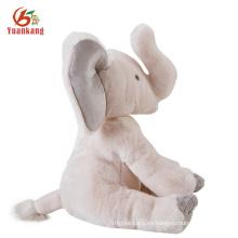 Venta al por mayor barata suave de dibujos animados elefante muñeca nombres linda felpa Musical Animal elefante relleno con grandes orejas