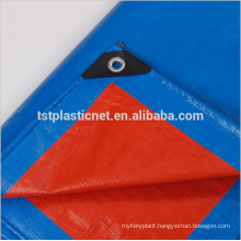 orange blue pure virgin PE Coated Tarpaulin for truck cover and tents
