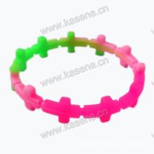 Новый дизайн креста формы настроил силиконовый браслет, дешевые силиконовые