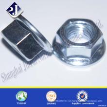 Porca de flange de cabeça hexagonal DIN6923 de alta qualidade