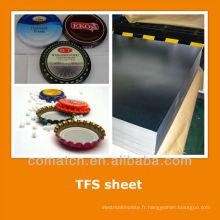 EN10202 standard Tin gratuit tôle d'acier pour bouteille top
