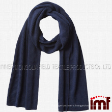 Men's 100% Cashmere Scarf,Cashmere Ribbed Knit Scarf
