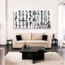 Pintura decorativa do retrato da arte da parede