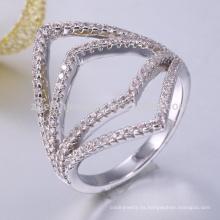Anillo de plata 925 en plata esterlina anillo en blanco