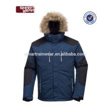 Fabricante moda walkhard a prueba de viento impermeable sudadera con capucha de esquí nieve cremalleras chaqueta para hombres.