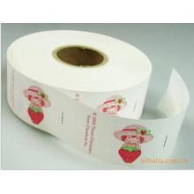 Impresión Etiqueta de lavado de fresa para el cuidado