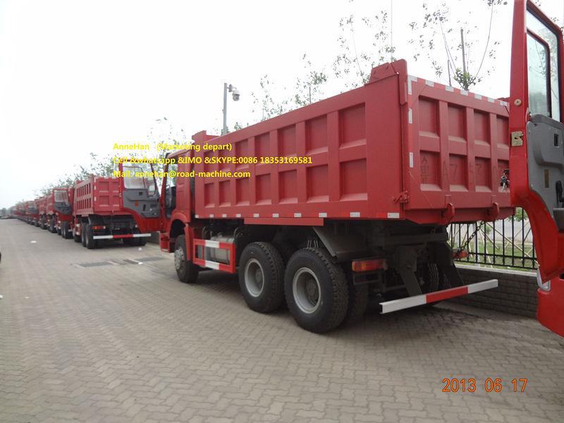 Red 18m3 Dump Truck Howo7 2