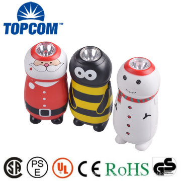 Cute Kid Gift Mini Antorcha Mano Prensa LED Animal Dynamo Luz
