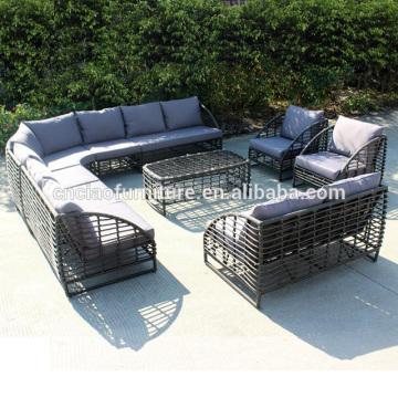 Rodada de vime sofá wintech móveis de vime