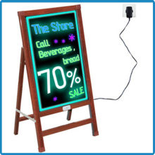 outdoor waterproof wooden alike advertising bar neon led sign board