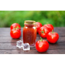 Botella de vidrio orgánico pasta de tomate