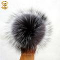 Handmade Top Quality 12cm Pom Poms Пушистая меховая оптика Подлинная шапка Fush Fox