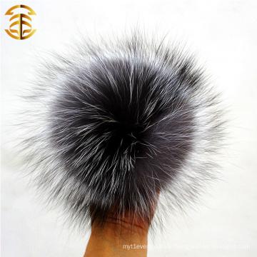 Handgefertigte hochwertige 12cm Pom Poms Flaumige Pelz Großhandel echte Fox Pelz Ball