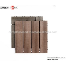 Interlocking WPC DIY deck tile, water resistant, UV resistant, recyleable, made in Vietnam