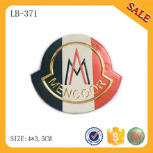 LB371 Pu étiquettes de logo en cuir pour patch de jeans