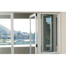 Garantie de haute qualité Porte en aluminium à charnière en verre tempéré