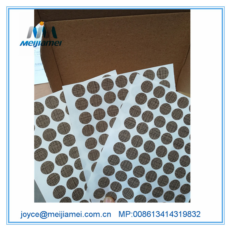 PVC Fastcaps Screw Cover Sticker / Skru Cap Sticker