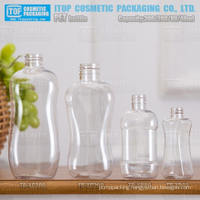 40ml 80ml 200ml and 300ml lady shape beautiful and gentle curve good quality hot-selling wide application pet empty bottle