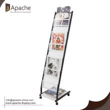 Good Quality for Magazine Displays Metal Magazine Newspaper Rack with Grid Shelf export to Brazil Wholesale