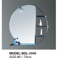 Miroir de salle de bains en verre argenté d'épaisseur de 5mm (BDL-2006)