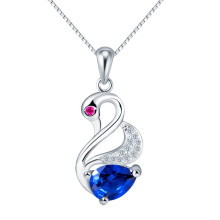 wholesale Austria crystal element sapphire Swan charm pendant