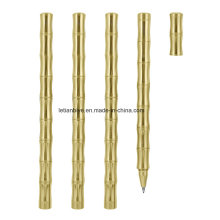 Special Shape Bamboo Joint Gold Plated Metal Pen (LT-C129)