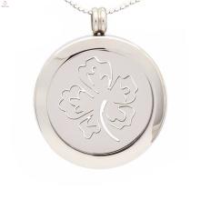 Sorte pingente moeda trevo de quatro folhas, moeda pingentes para colares