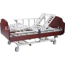 Hölzerne 5 Funktionen Rotierende elektrische Krankenhausbett für gelähmte Patienten