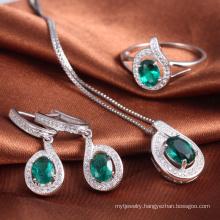 Wholesale Trending Hot Silver Wedding Jewelry Set