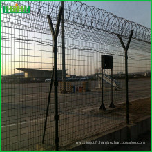 Clôture de fourrure recouverte de PVC Aéroport Lien de chaîne Escrime