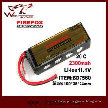O Firefox 11.1 v 2300mAh Lipo Li-Po Li-Polymer bateria 20 c superpotência