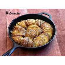 Runde Bratpfanne Gusseisen mit Helfer Ofenfeste Griff