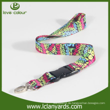 Neue Art nach Maß Sublimation Polyester Lanyard