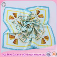 Самые популярные женские 100% Шелковый шарф небольшой площади шарф из Китая