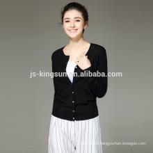 14GG 100% Merino Wool Women Cardigan Wholesale Sweater OEM