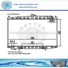 Radiateurs automatiques en aluminium pour Nissan Altima / Bluebird 93-00