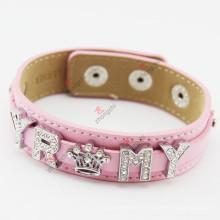 Bracelet en cuir de 18 mm bracelet en cuir véritable pour femme
