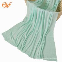 Couverture tricotée faite sur commande de couverture de refroidissement de sofa de couverture